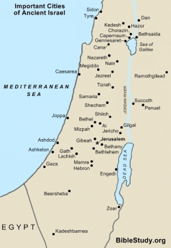 Map of ancient israel from biblestudy 1