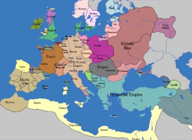 Map of europe in the middle ages from pinterest 2
