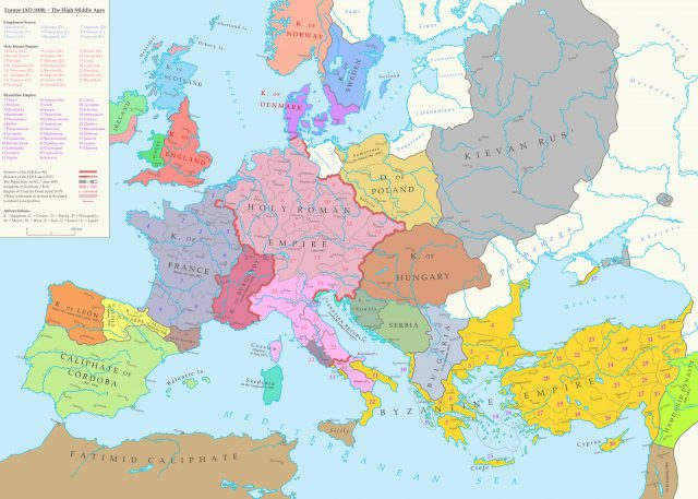 Map Of Europe In The Middle Ages