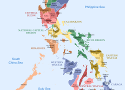 Map of the philippines with label from commons 4