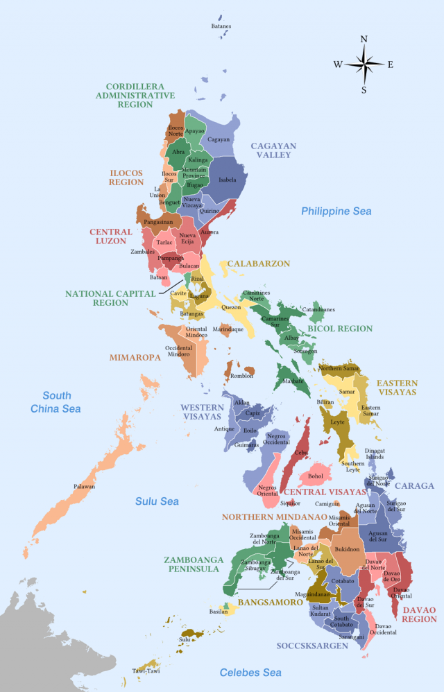 Map Of The Philippines With Label