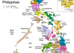 Map of the philippines with label from freeusandworldmaps 9