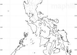 Map of the philippines with label from maphill 8