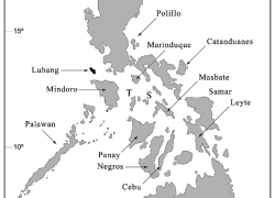 Map of the philippines with label from researchgate 5