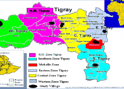 Map of tigray region from researchgate 4