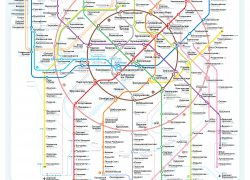 Moscow Metro Map: Moscow metro map from news 1