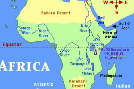Niger River On Africa Map