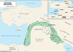 Nineveh Map: Nineveh map from britannica 1