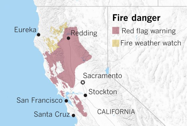 Northern california map from latimes 1
