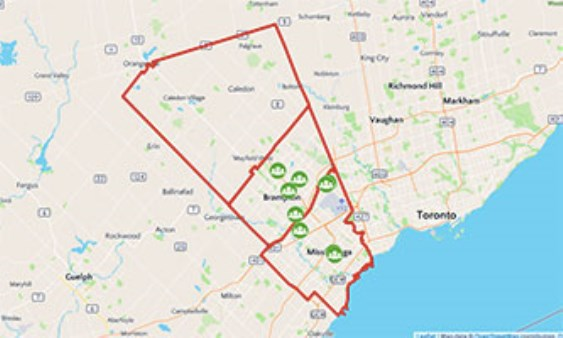 Peel region map from immigrationpeel 1