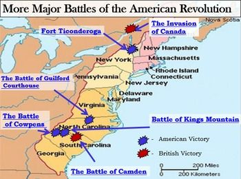 Revolutionary War Battles Map