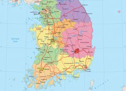 Seoul South Korea Map: Seoul south korea map from geographicguide 1