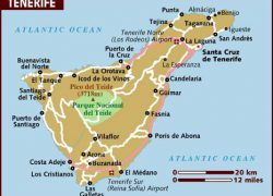 Tenerife Map: Tenerife map from lonelyplanet 1