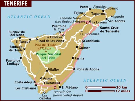 Tenerife map from lonelyplanet 1
