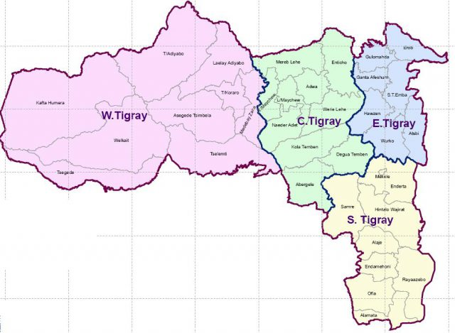 Tigray region map from ethiodemographyandhealth 2