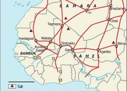 Trans Saharan Trade Route Map: Trans saharan trade route map from pinterest 1