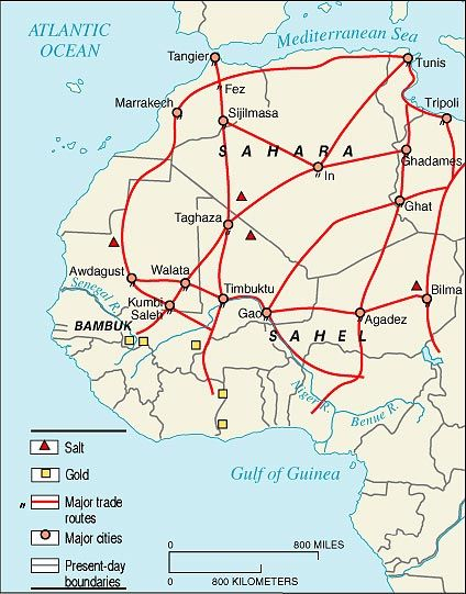 Trans saharan trade route map from pinterest 1