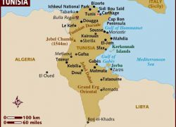 Tunisia map from lonelyplanet 8