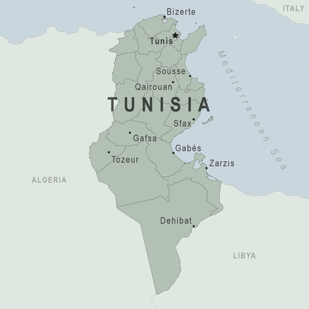 Tunisia Map From Wwwnc 1