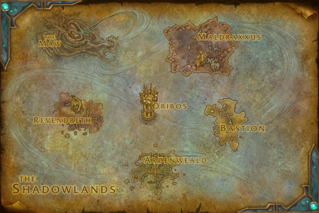 Wow Shadowlands Map