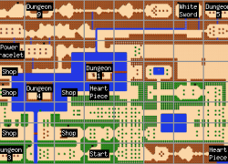 Zelda nes map from thonky 8