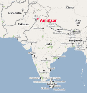 Amritsar In India Map From Bakersfieldsistercity 6