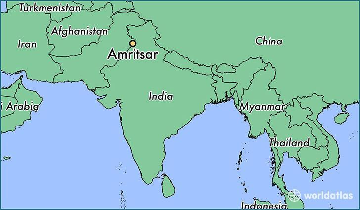 Amritsar In India Map From Brainly 10
