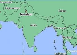 Amritsar in india map from brainly 8