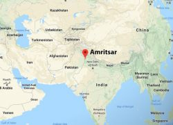 Amritsar in india map from channel3000 2