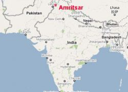 Amritsar in india map from pinterest 1