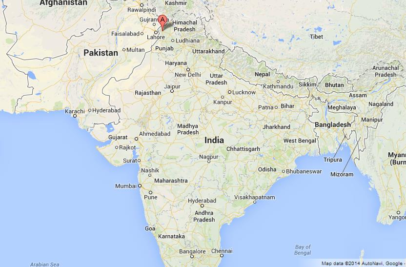 Amritsar In India Map From Worldeasyguides 3