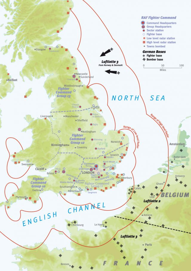 Battle of britain map from military history 1
