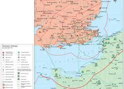 Battle of britain map from themaparchive 2