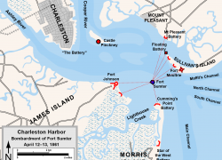 Battle of fort sumter map from pinterest 7