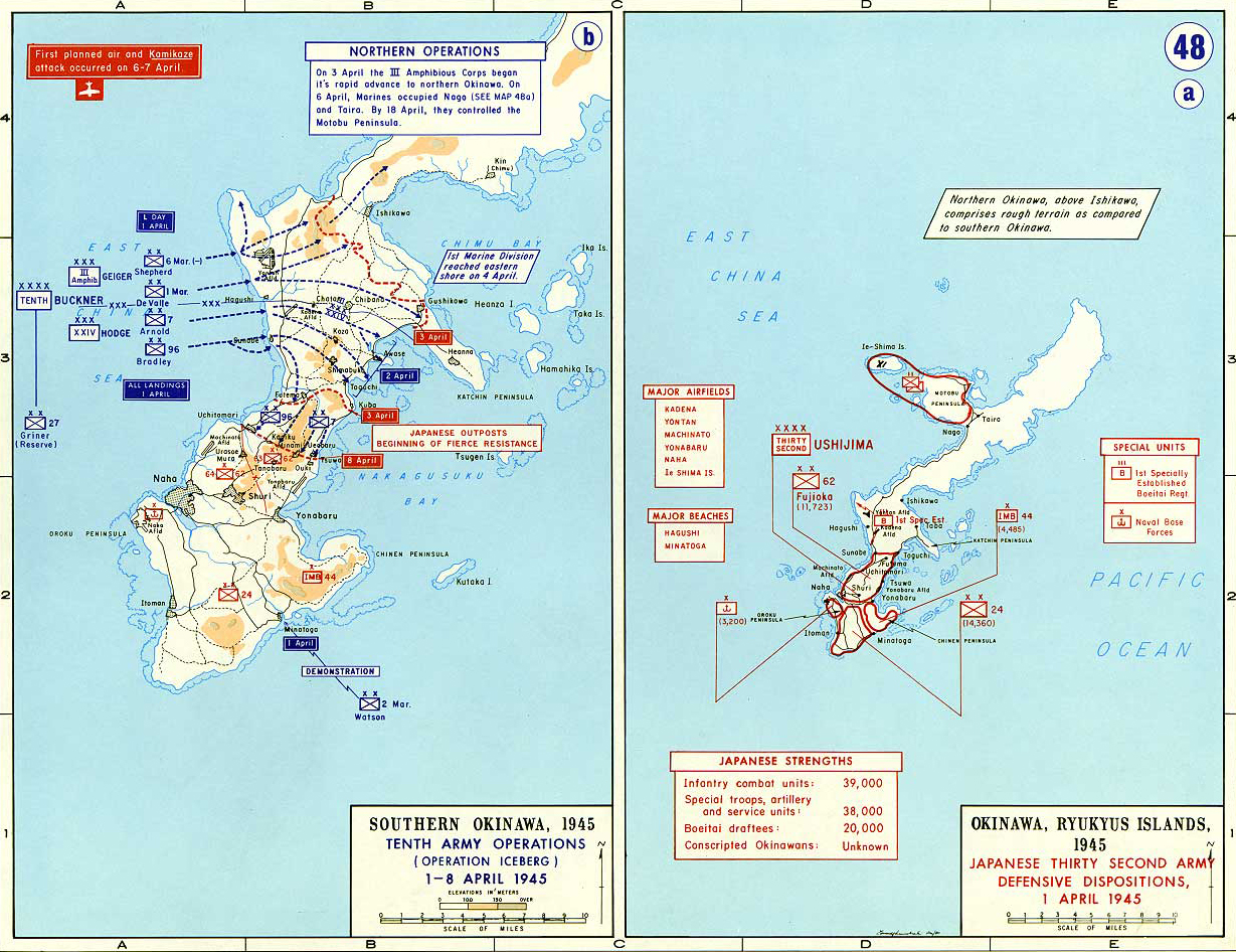 Battle Of Okinawa Map From Emersonkent 3