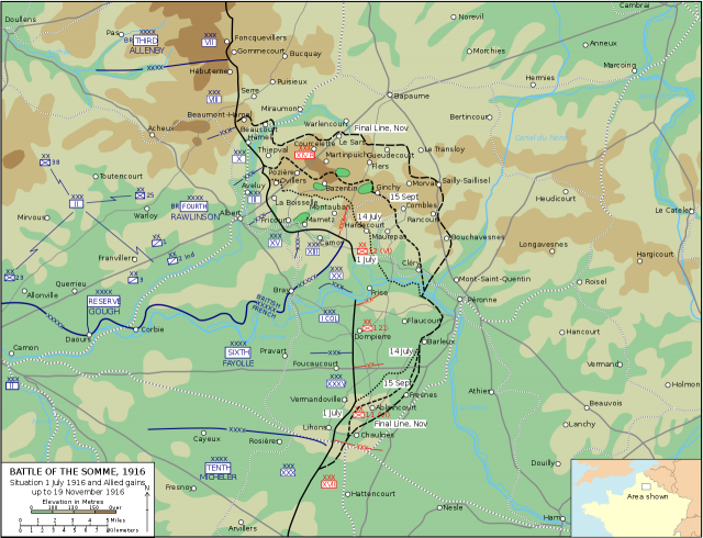 Battle Of Somme Map