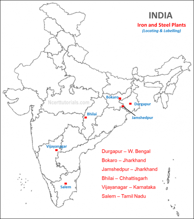 Bhilai Iron And Steel Plant On Map