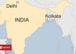 Calcutta in india map from bbc 9