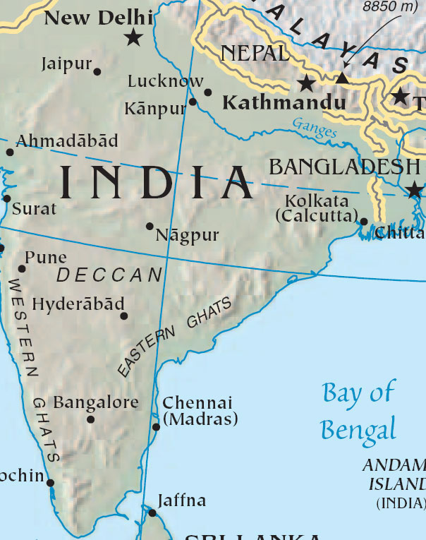 Calcutta In India Map From Maps Of India 8