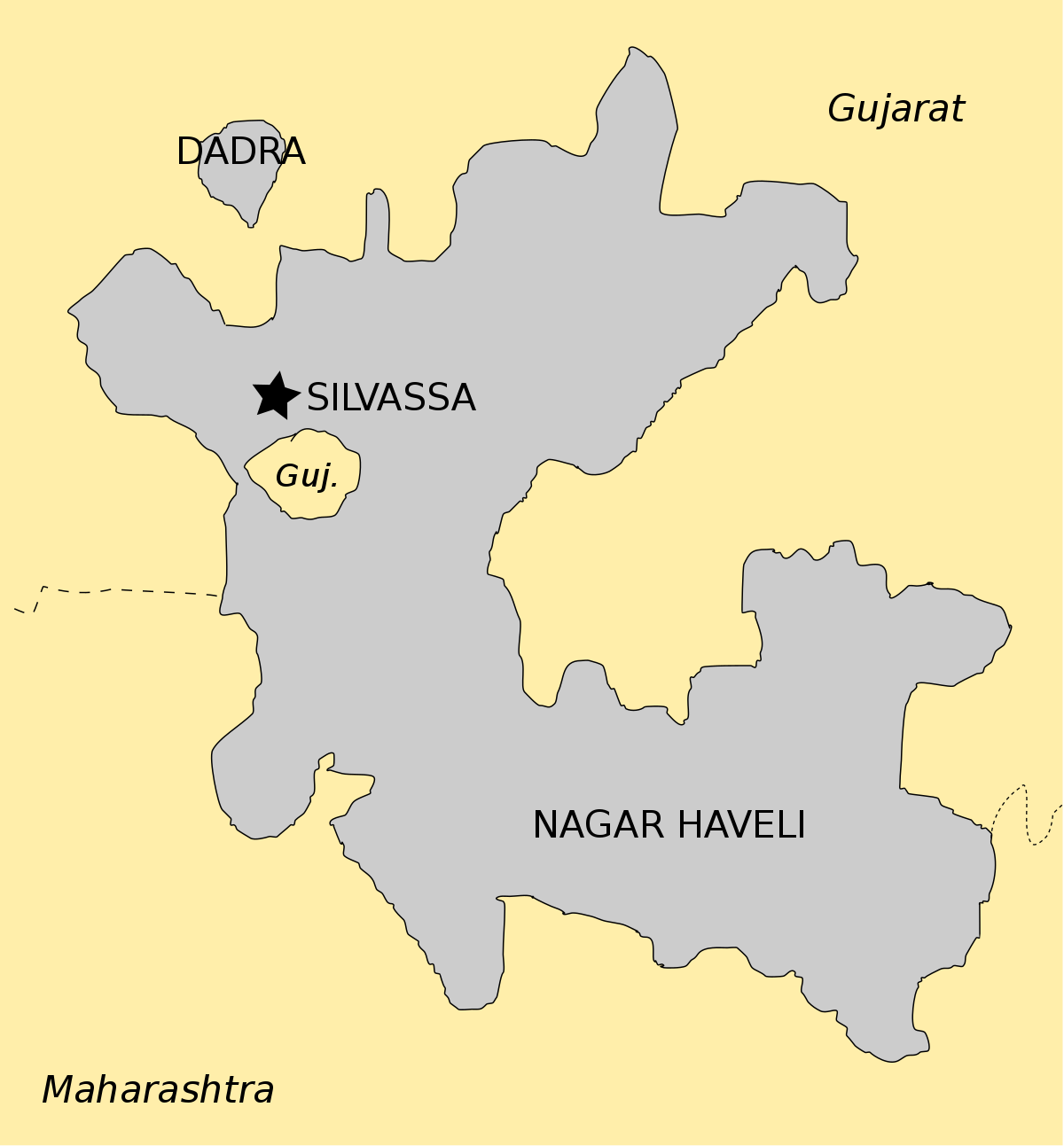 Dadra And Nagar Haveli Map From En 3