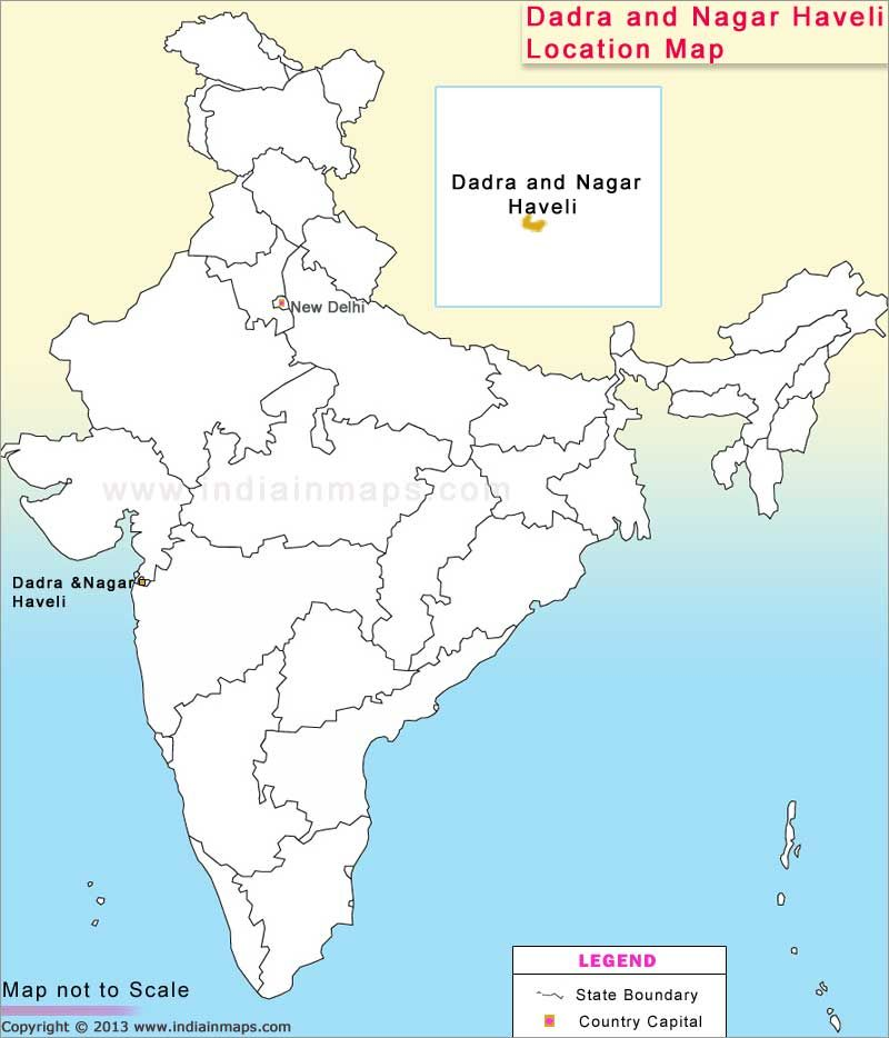 Dadra And Nagar Haveli Map From In 8