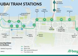 Dubai Tram Map