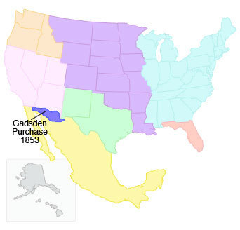Gadsden Purchase Map