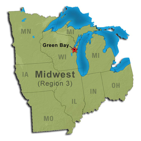 Green Bay Map From Fws 5