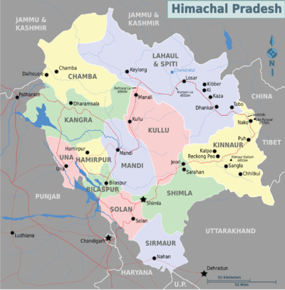 Himachal Map From En 1