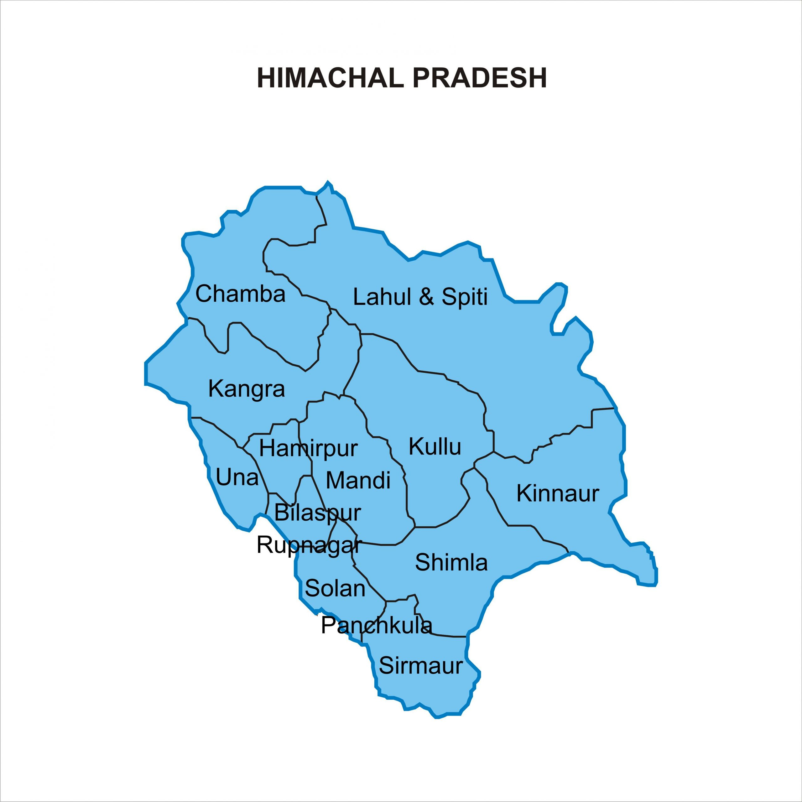 Himachal Map From In 6