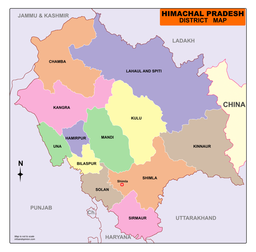 Himachal Map From Infoandopinion 7