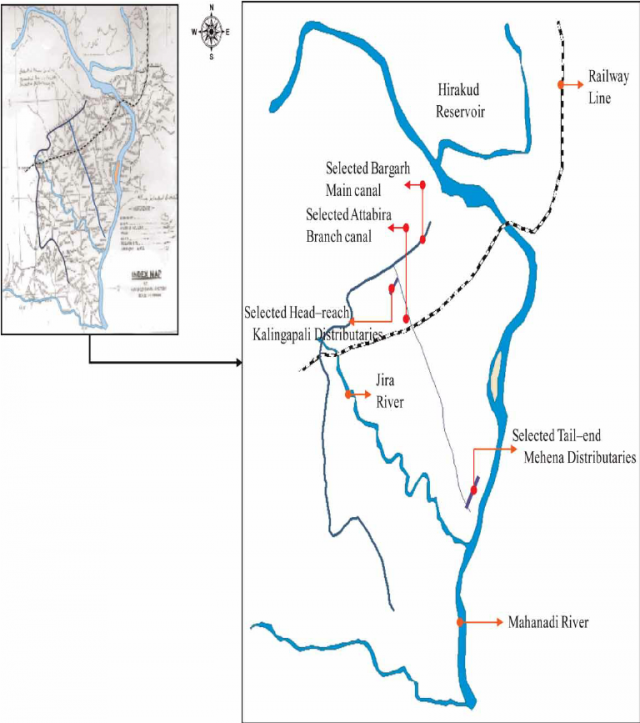 Hirakud Dam On Map