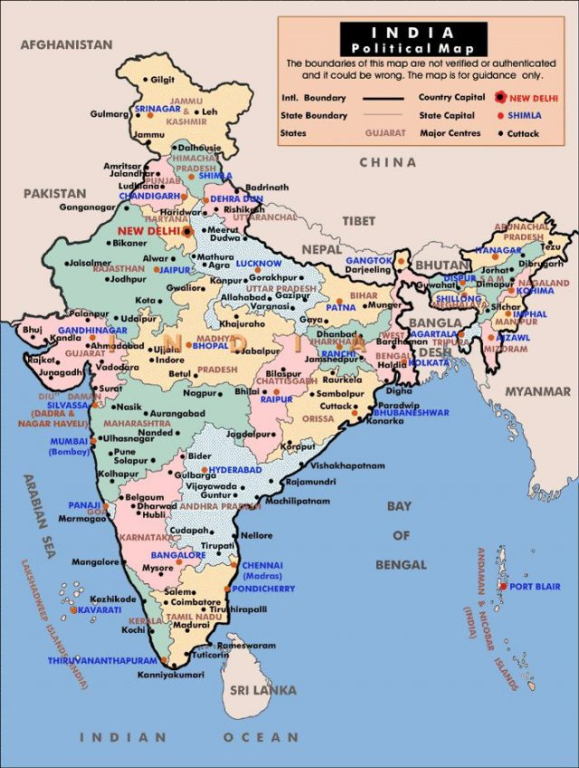 India Map With States Hd