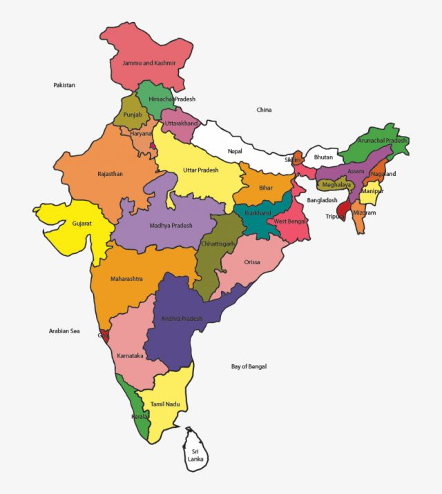 India map with states hd from nicepng 2